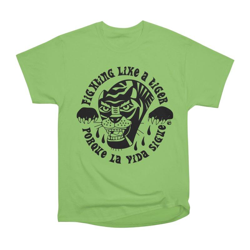 LIKE A TIGER Men's Heavyweight T-Shirt by Mico Jones Artist Shop