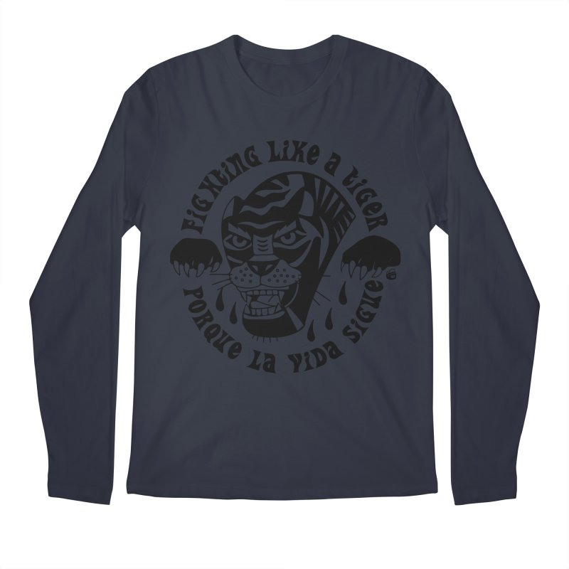 LIKE A TIGER Men's Regular Longsleeve T-Shirt by Mico Jones Artist Shop