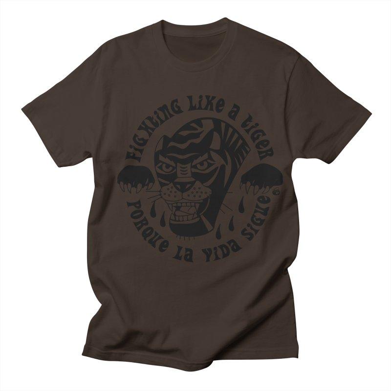 LIKE A TIGER Men's T-Shirt by Mico Jones Artist Shop