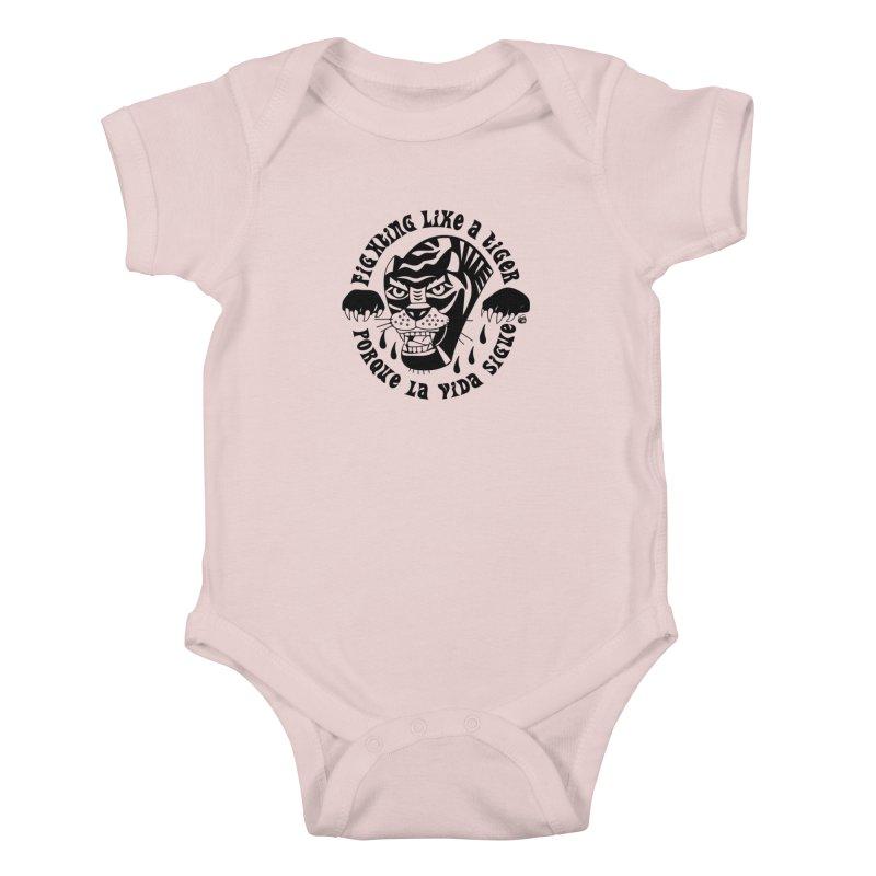 LIKE A TIGER Kids Baby Bodysuit by Mico Jones Artist Shop