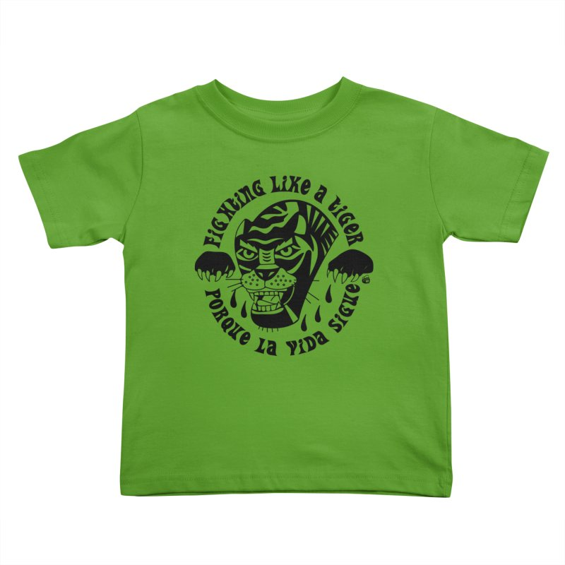 LIKE A TIGER Kids Toddler T-Shirt by Mico Jones Artist Shop