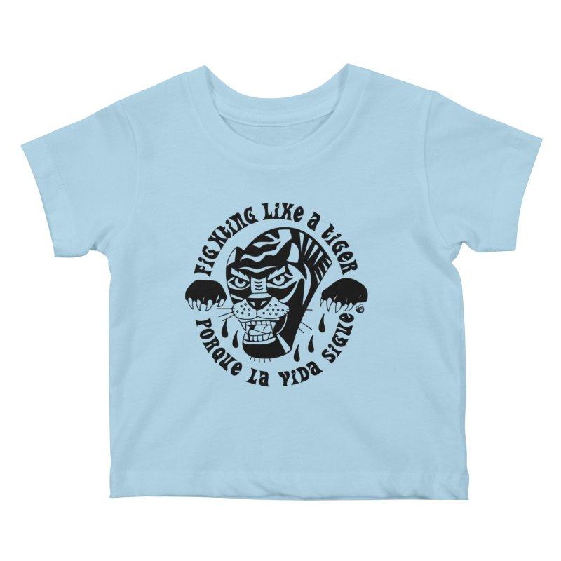 LIKE A TIGER Kids Baby T-Shirt by Mico Jones Artist Shop