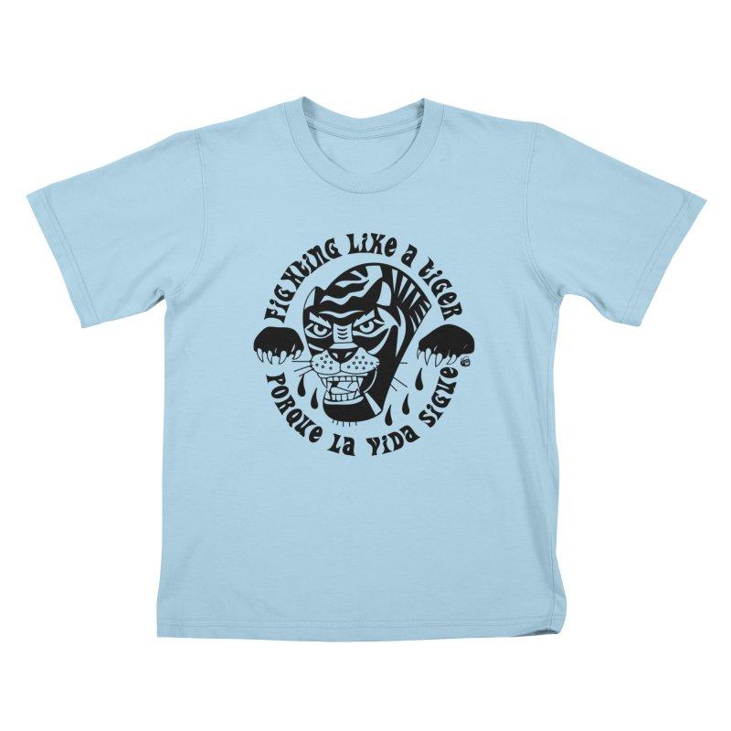 LIKE A TIGER Kids T-Shirt by Mico Jones Artist Shop