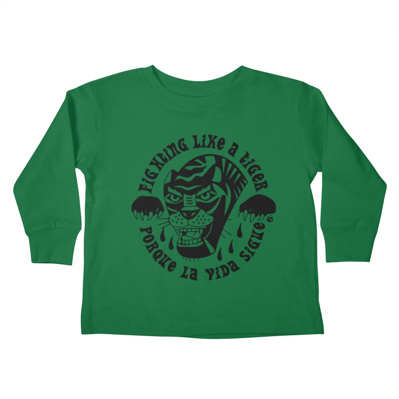 LIKE A TIGER Kids Toddler Longsleeve T-Shirt by Mico Jones Artist Shop