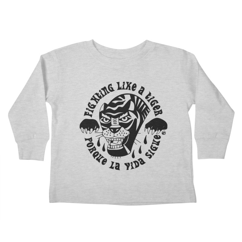 LIKE A TIGER Kids Toddler Longsleeve T-Shirt by Mico Jones Artist Shop