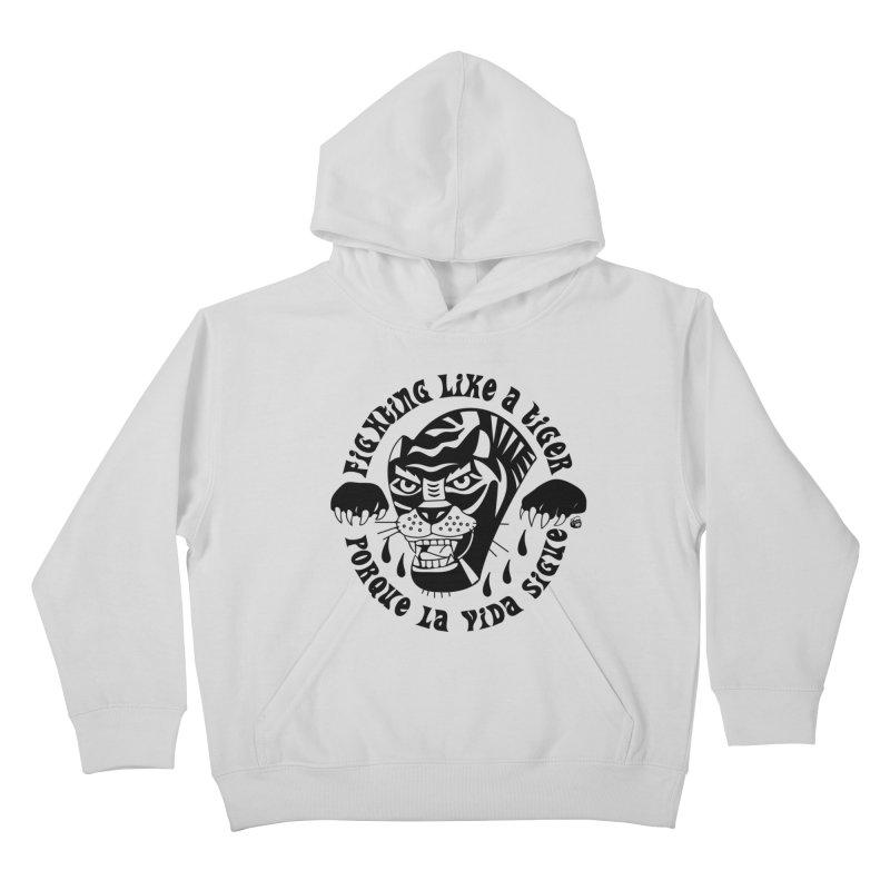 LIKE A TIGER Kids Pullover Hoody by Mico Jones Artist Shop