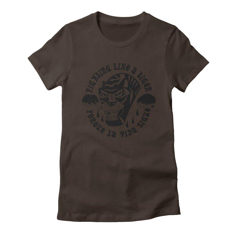 LIKE A TIGER Women's T-Shirt by Mico Jones Artist Shop