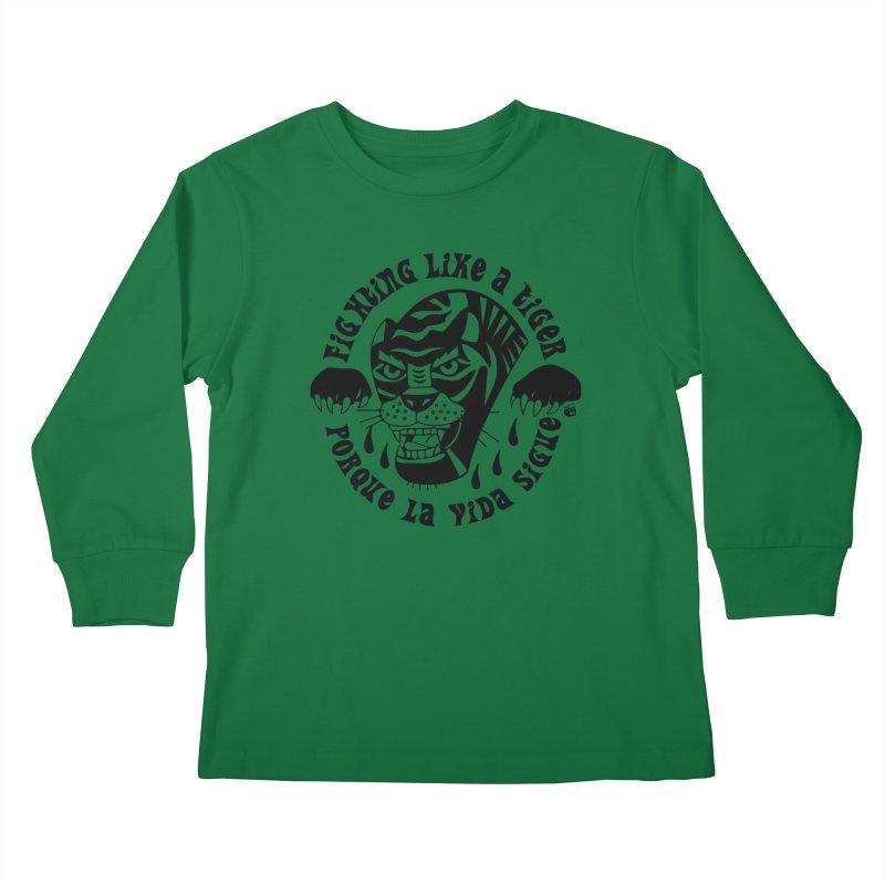 LIKE A TIGER Kids Longsleeve T-Shirt by Mico Jones Artist Shop