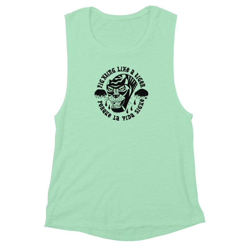 LIKE A TIGER Women's Muscle Tank by Mico Jones Artist Shop