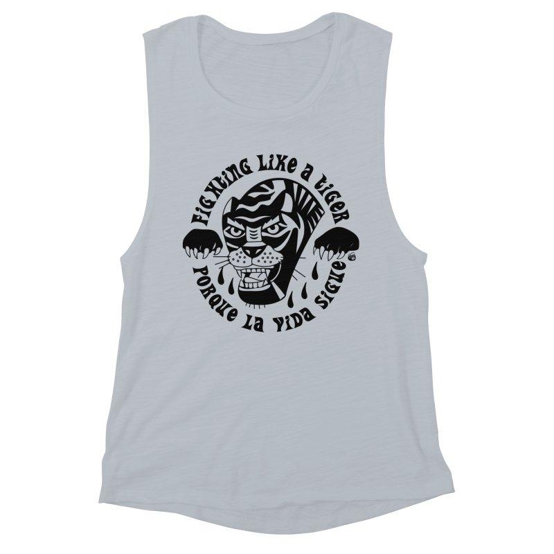 LIKE A TIGER Women's Tank by Mico Jones Artist Shop