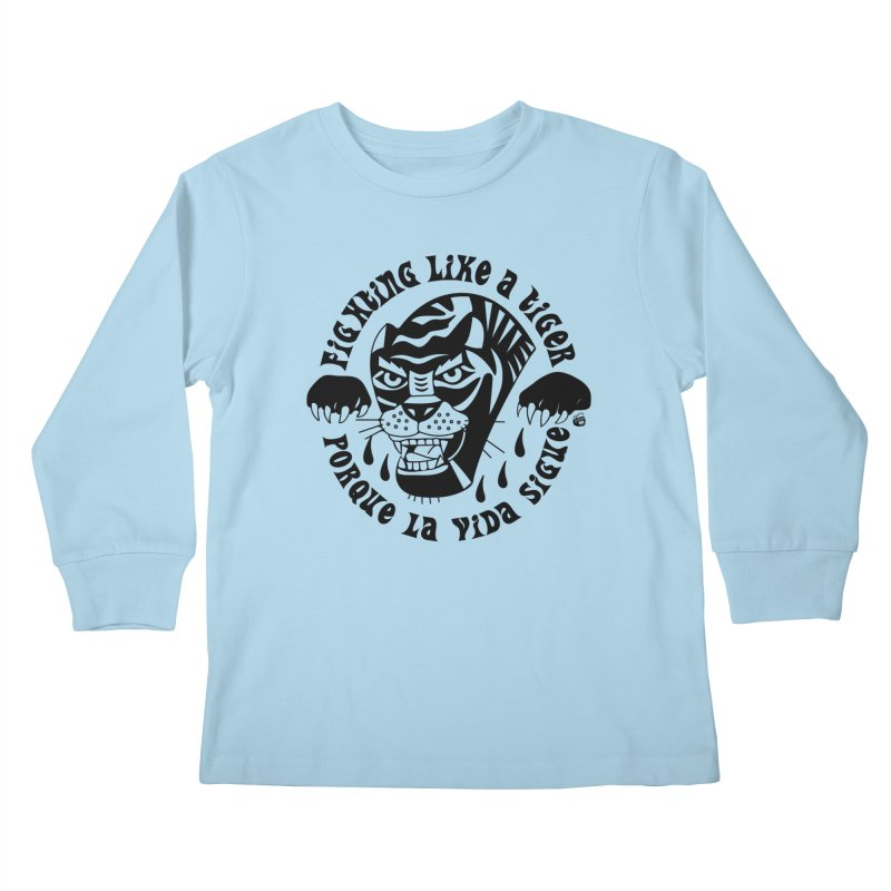 LIKE A TIGER Kids Longsleeve T-Shirt by Mico Jones Artist Shop