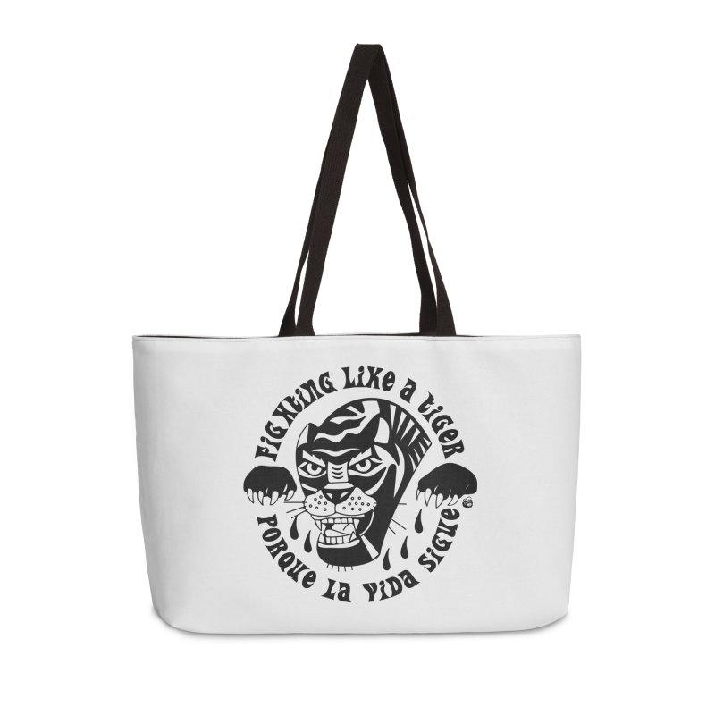 LIKE A TIGER Accessories Weekender Bag Bag by Mico Jones Artist Shop