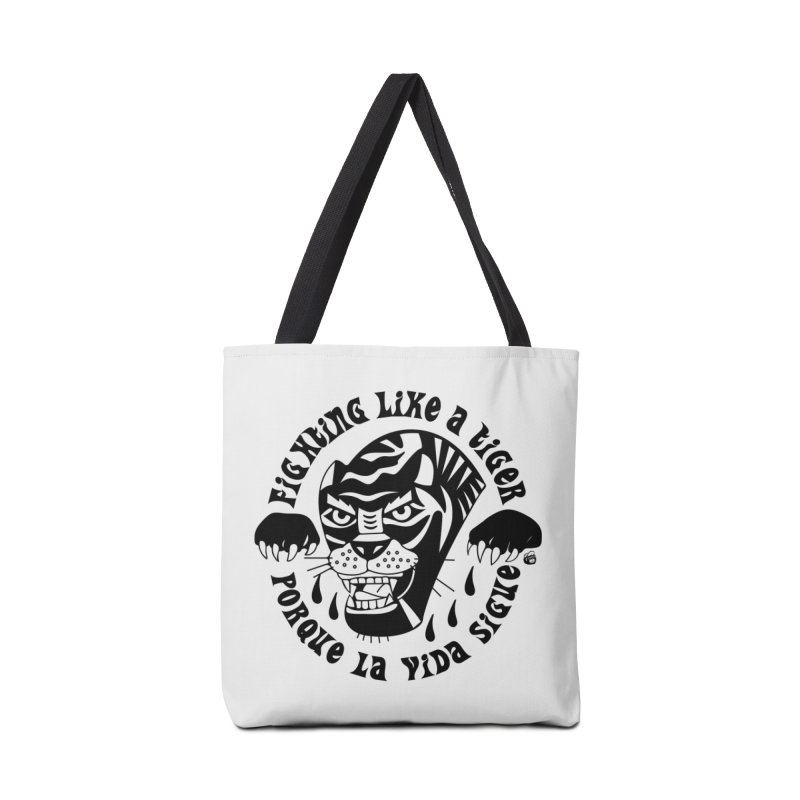 LIKE A TIGER Accessories Tote Bag Bag by Mico Jones Artist Shop