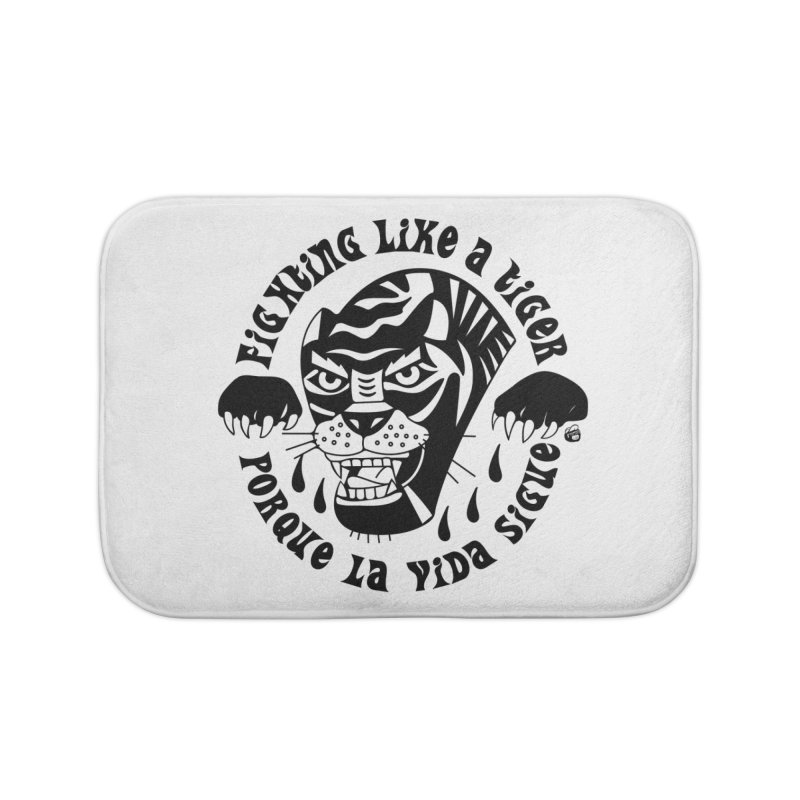 LIKE A TIGER Home Bath Mat by Mico Jones Artist Shop