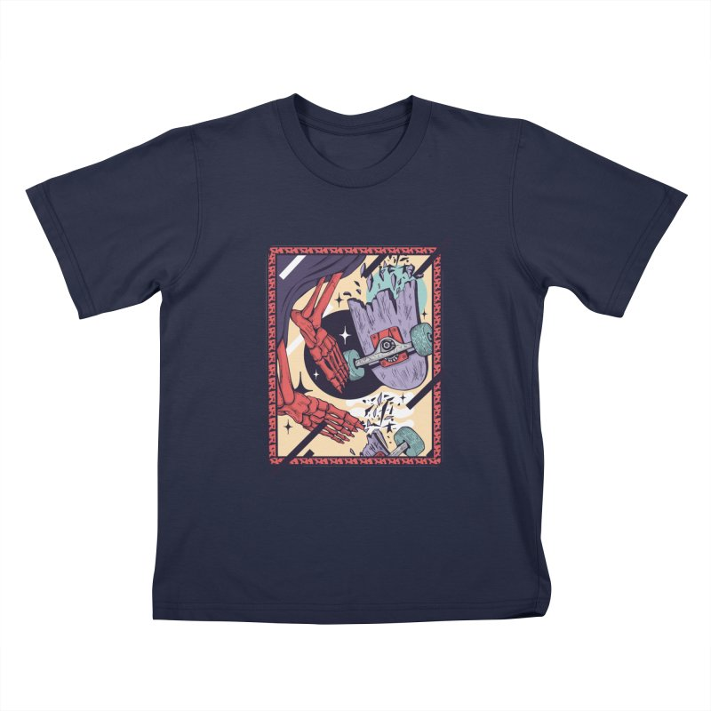 skate till break Kids T-Shirt by Mico Jones Artist Shop