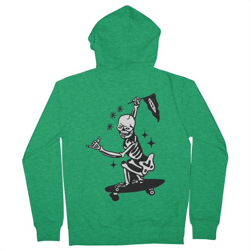 DOPE SKATER Women's Zip-Up Hoody by Mico Jones Artist Shop