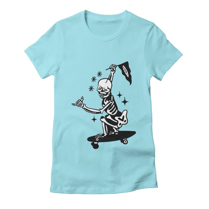DOPE SKATER Women's Fitted T-Shirt by Mico Jones Artist Shop