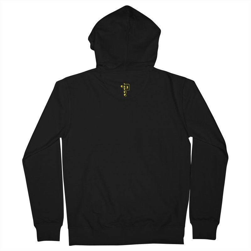 mICON in Men's Zip-Up Hoody Black by micQuestion's Artist Shop