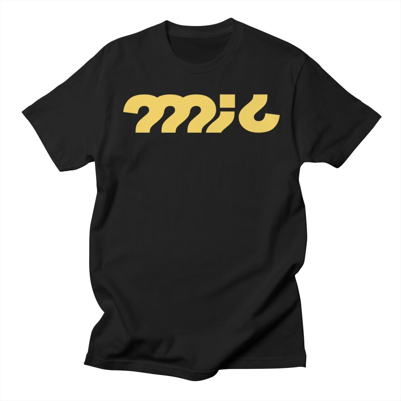 mic Yellow in Men's T-Shirt Black by micQuestion's Artist Shop