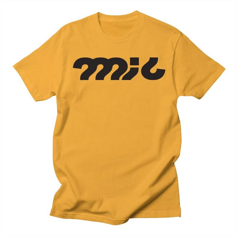 mic Black on Gold in Men's T-Shirt Gold by micQuestion's Artist Shop
