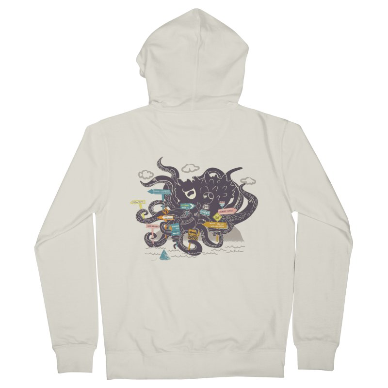 Stray Men's French Terry Zip-Up Hoody by micronisus's Artist Shop