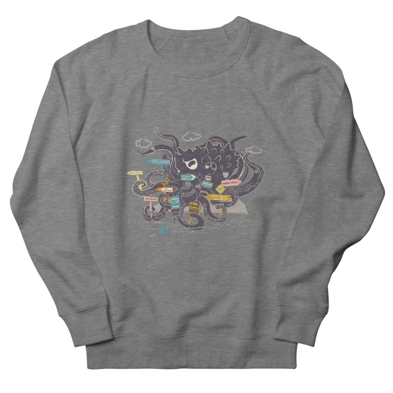 Stray Men's French Terry Sweatshirt by micronisus's Artist Shop