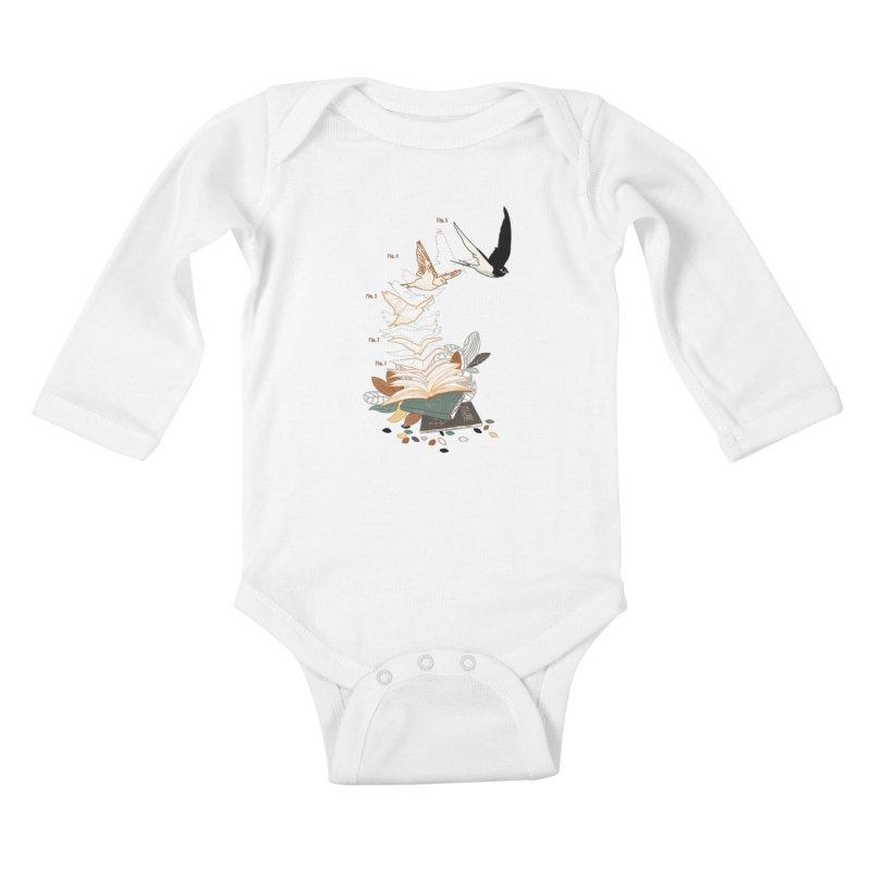 flow Kids Baby Longsleeve Bodysuit by micronisus's Artist Shop