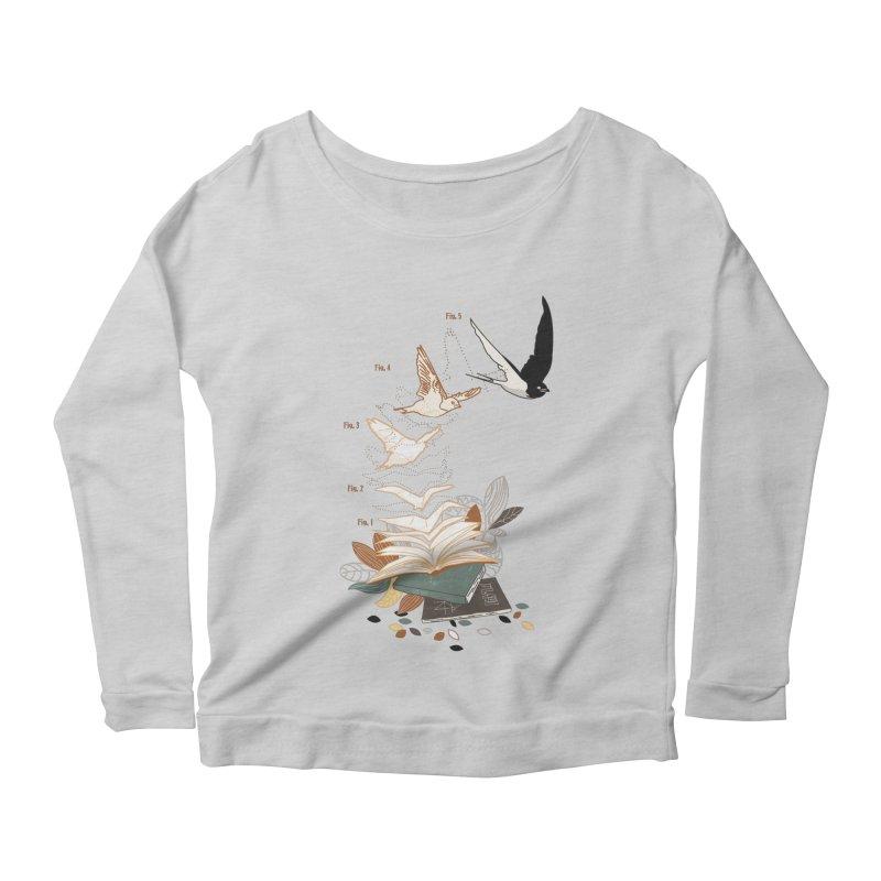 flow Women's Scoop Neck Longsleeve T-Shirt by micronisus's Artist Shop