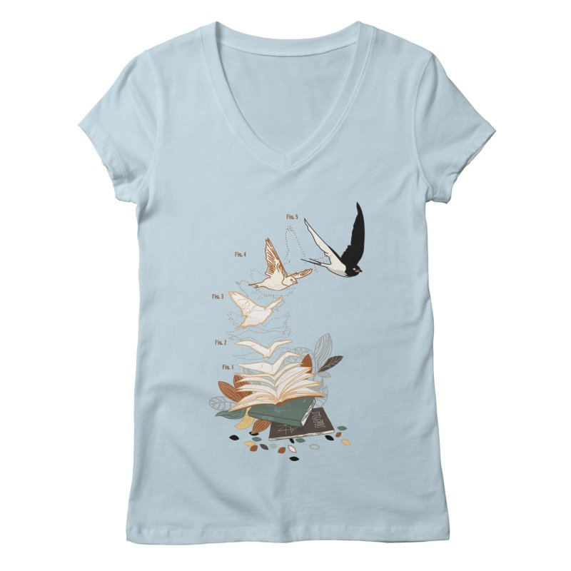 flow Women's V-Neck by micronisus's Artist Shop