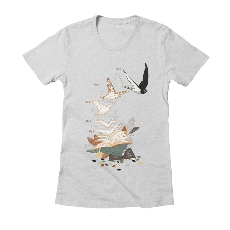 flow Women's Fitted T-Shirt by micronisus's Artist Shop