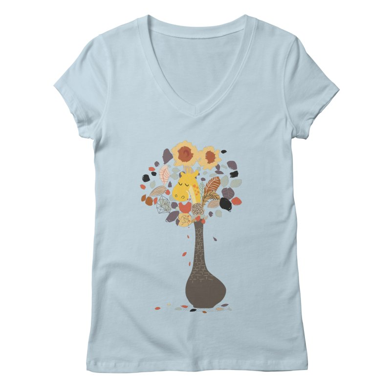 still life No.1 Women's V-Neck by micronisus's Artist Shop