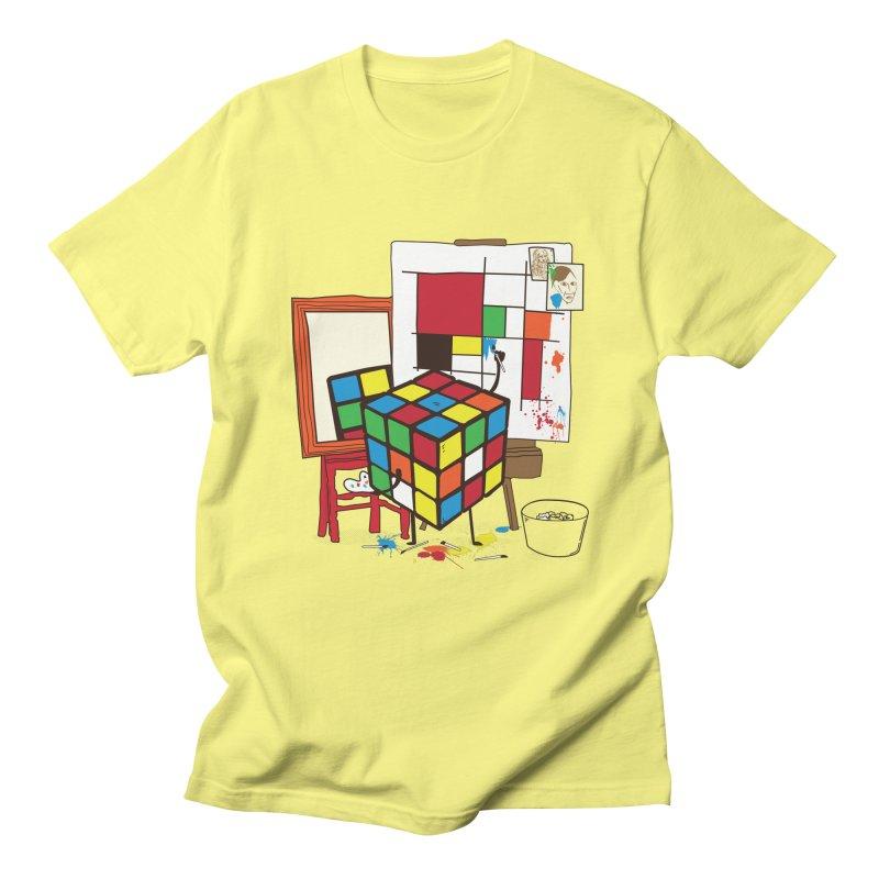 self portrait Men's T-Shirt by micronisus's Artist Shop