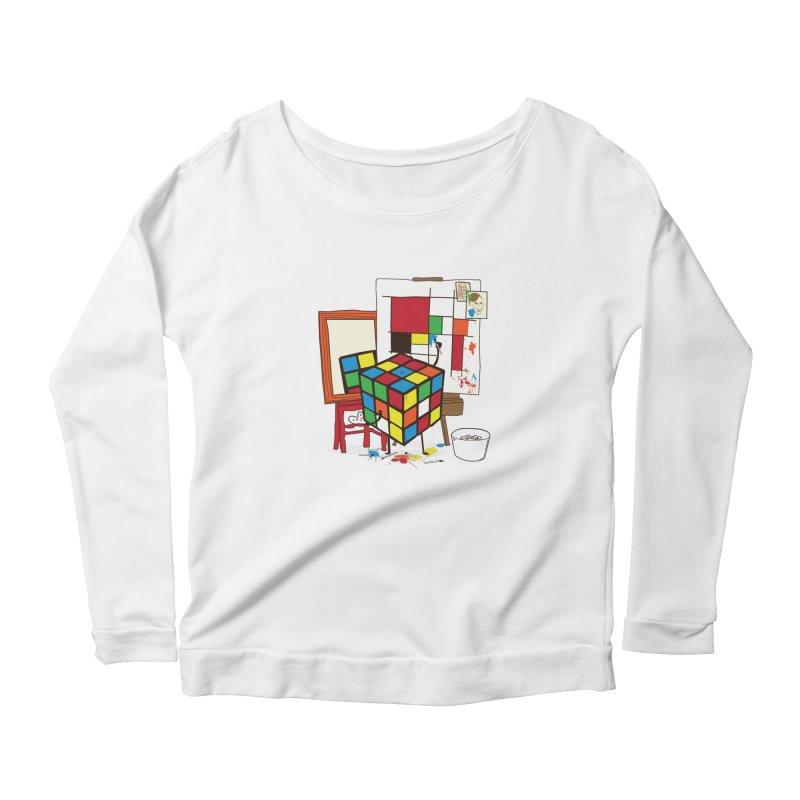 self portrait Women's Longsleeve T-Shirt by micronisus's Artist Shop