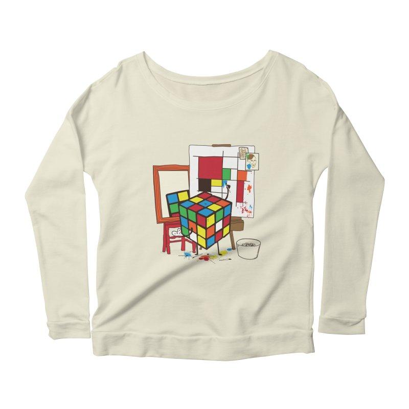 self portrait Women's Scoop Neck Longsleeve T-Shirt by micronisus's Artist Shop