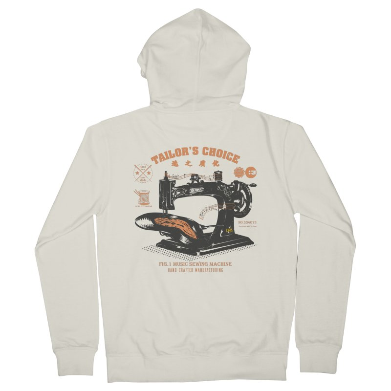 sewing Men's French Terry Zip-Up Hoody by micronisus's Artist Shop