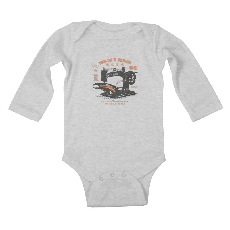 sewing Kids Baby Longsleeve Bodysuit by micronisus's Artist Shop