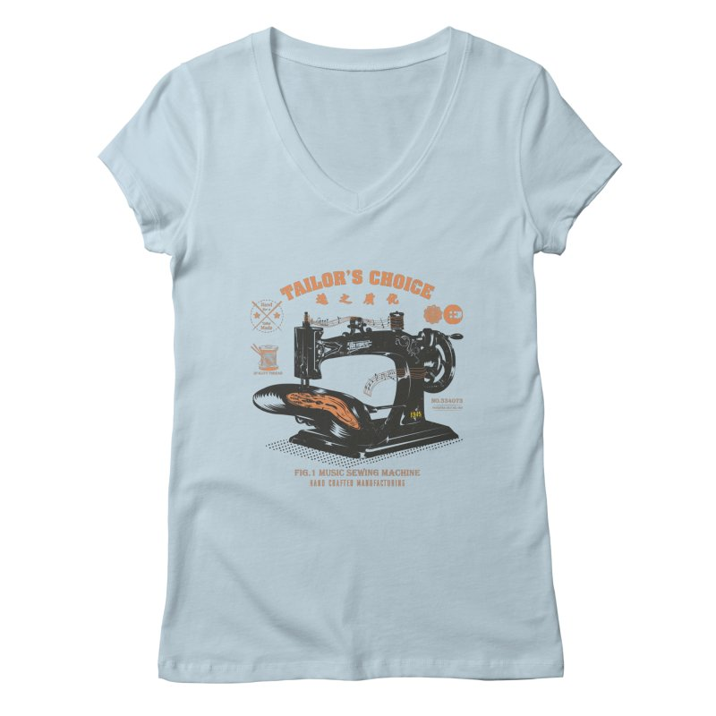 sewing Women's V-Neck by micronisus's Artist Shop