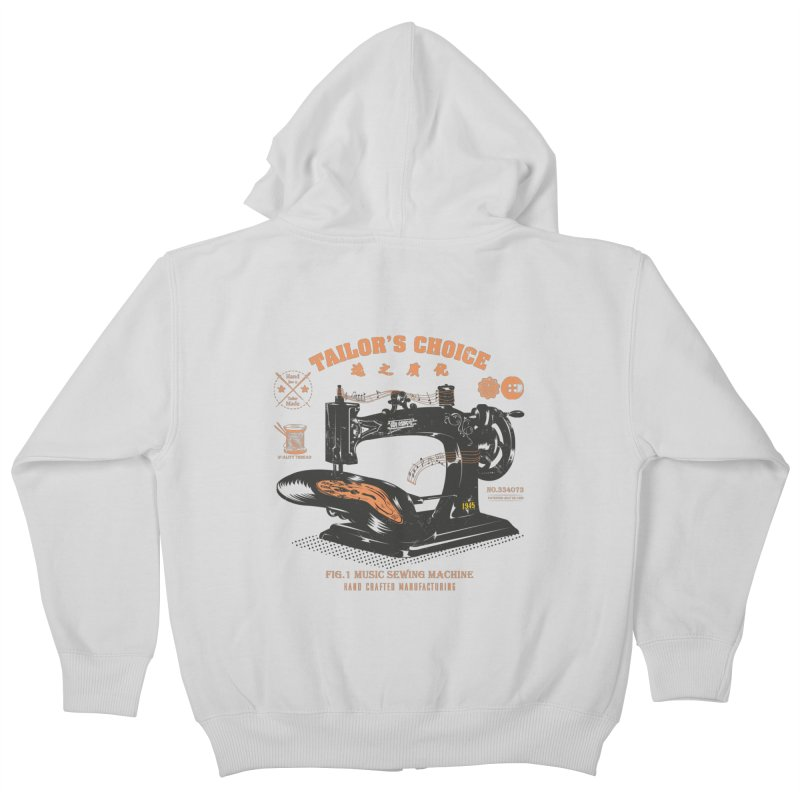 sewing Kids Zip-Up Hoody by micronisus's Artist Shop