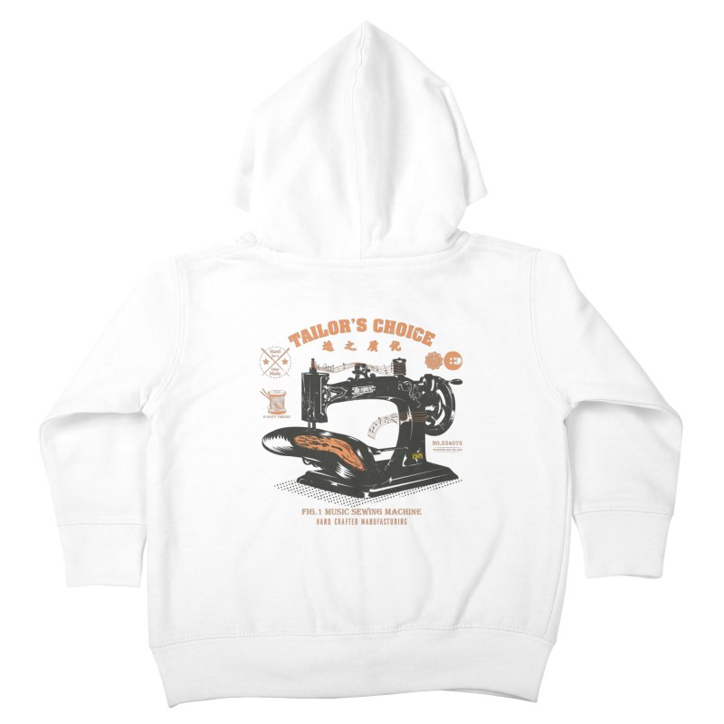 sewing Kids Toddler Zip-Up Hoody by micronisus's Artist Shop