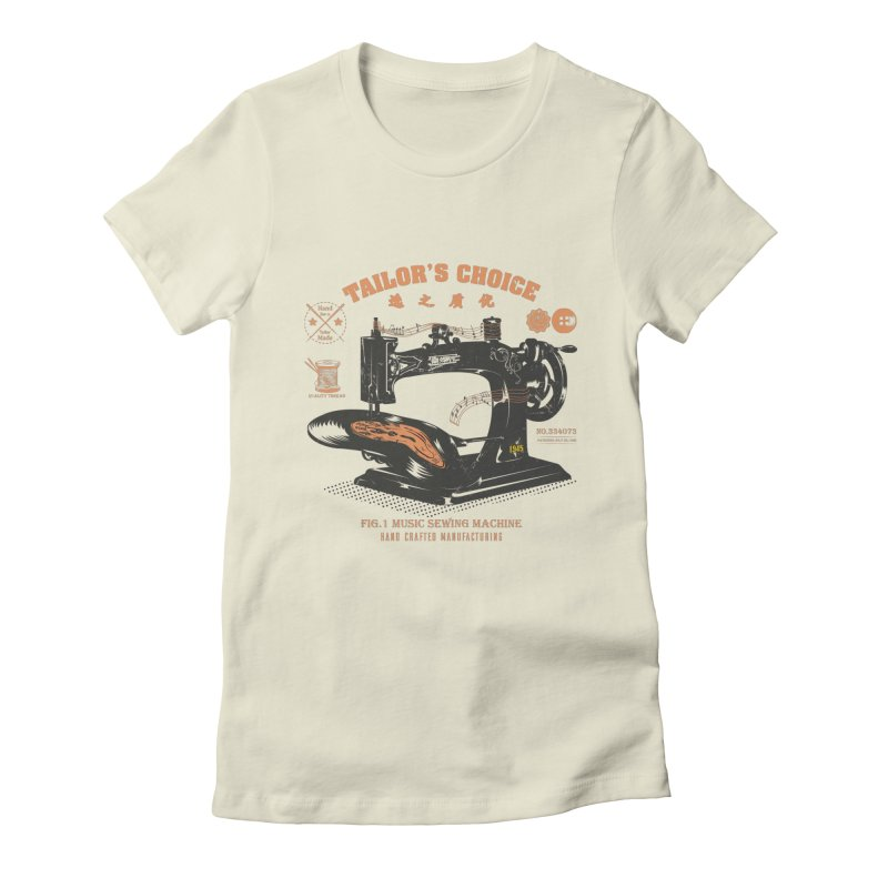 sewing Women's Fitted T-Shirt by micronisus's Artist Shop