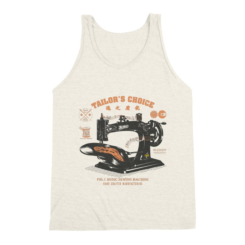 sewing Men's Triblend Tank by micronisus's Artist Shop