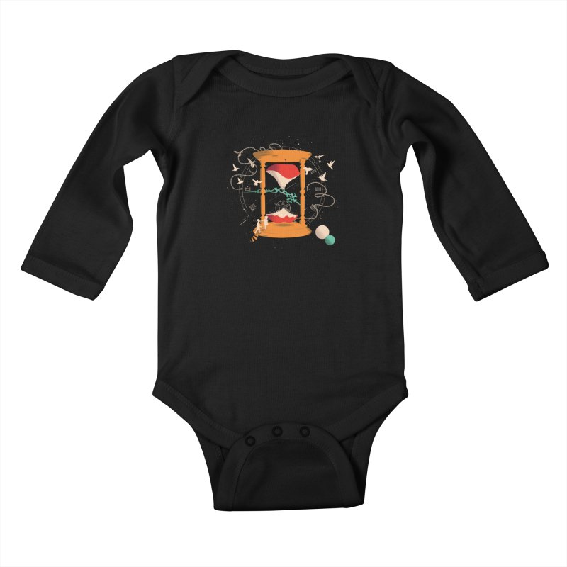 The time we spent together Kids Baby Longsleeve Bodysuit by micronisus's Artist Shop