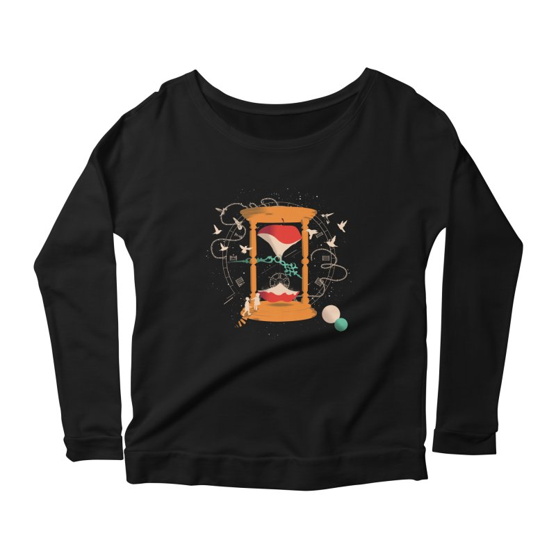The time we spent together Women's Longsleeve Scoopneck  by micronisus's Artist Shop