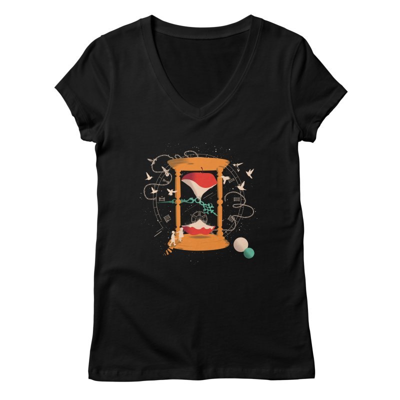 The time we spent together Women's V-Neck by micronisus's Artist Shop