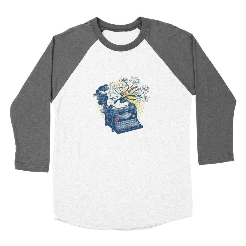 Blossom Women's Baseball Triblend Longsleeve T-Shirt by micronisus's Artist Shop