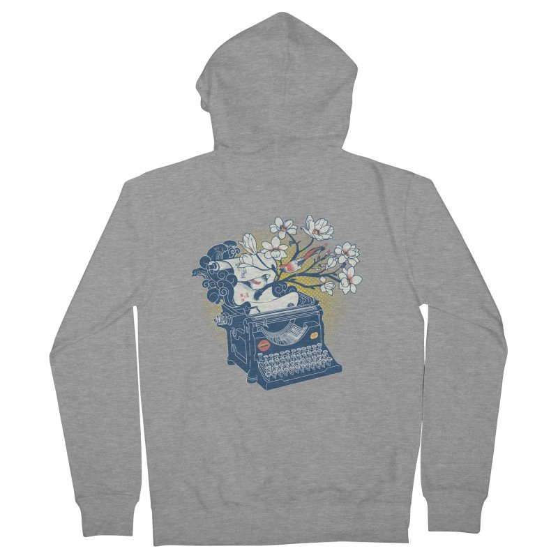 Blossom Women's French Terry Zip-Up Hoody by micronisus's Artist Shop