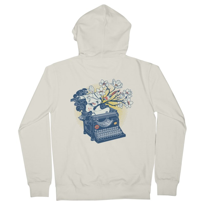 Blossom Men's French Terry Zip-Up Hoody by micronisus's Artist Shop
