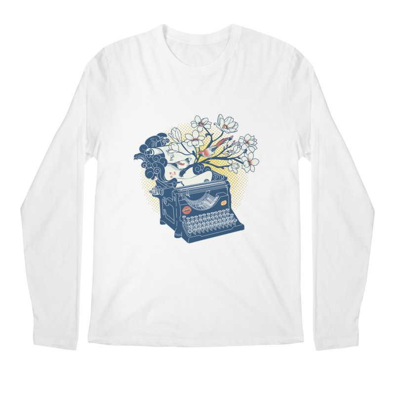 Blossom Men's Regular Longsleeve T-Shirt by micronisus's Artist Shop