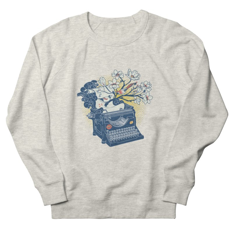 Blossom Men's French Terry Sweatshirt by micronisus's Artist Shop