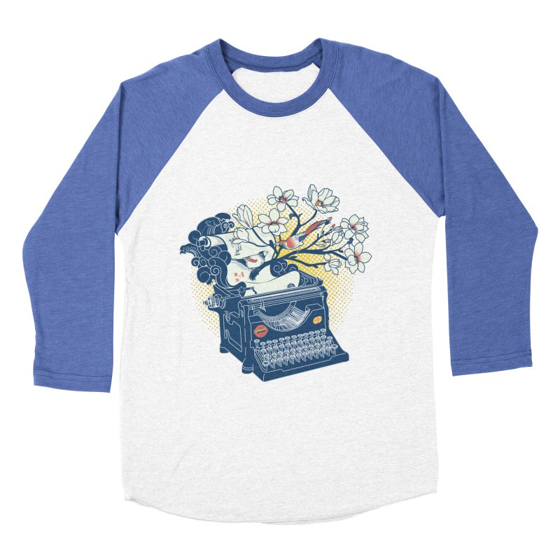 Blossom Men's Baseball Triblend Longsleeve T-Shirt by micronisus's Artist Shop